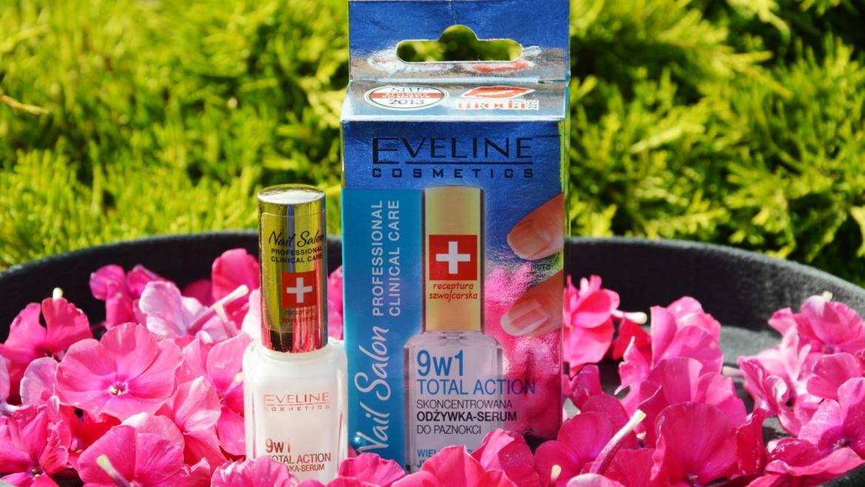 Eveline Cosmetics Nail Salon 9w1 Total Action – skoncentrowana odżywka – serum do paznokci