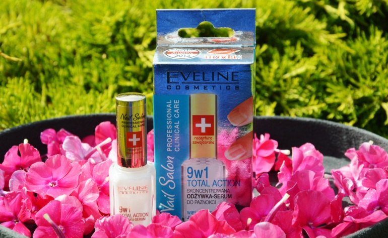 Eveline Cosmetics Nail Salon 9w1 Total Action – skoncentrowana odżywka – serum do paznokci
