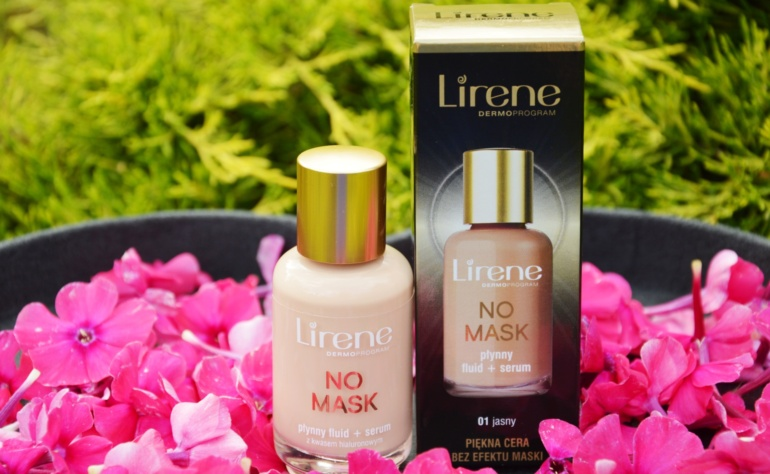 Lirene No Mask płynny fluid + serum z kwasem hialuronowym 01 jasny