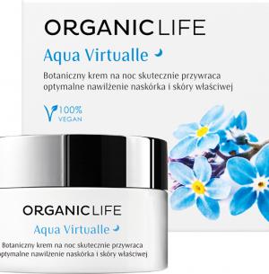 Organic Life Botaniczny krem nawilżający na noc Aqua Virtualle