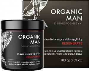 Organic Life Maska regenerująca do twarzy z zieloną glinką Organic Man