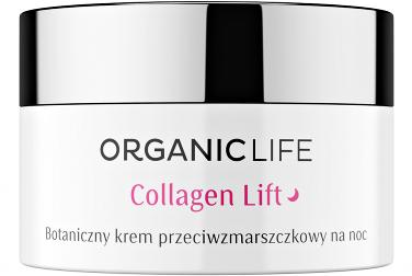 Organic Life Botaniczny krem przeciwzmarszczkowy na noc Collagen Lift