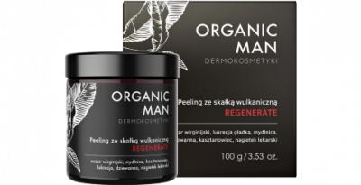 Organic Life Peeling ze skałką wulkaniczną Organic Man