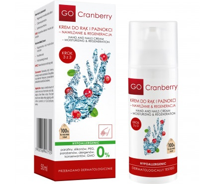 Krem do rąk i paznokci - Nawilżanie & regeneracja GoCranberry