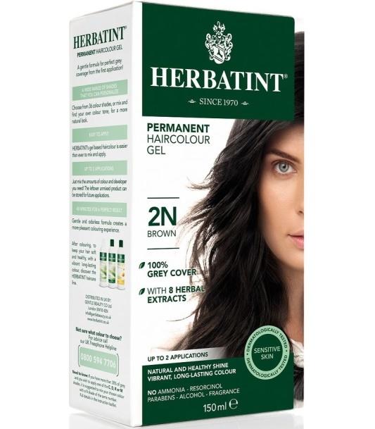 Herbatint, 2N Brąz Trwała farba do włosów w żelu