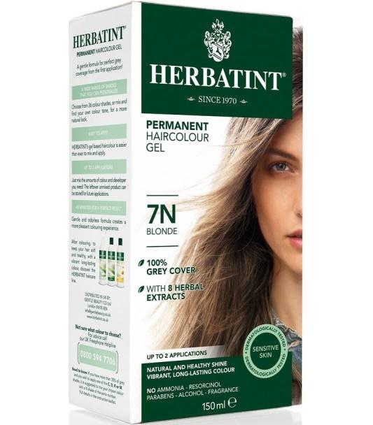 Herbatint 7N Blond Trwała farba do włosów w żelu