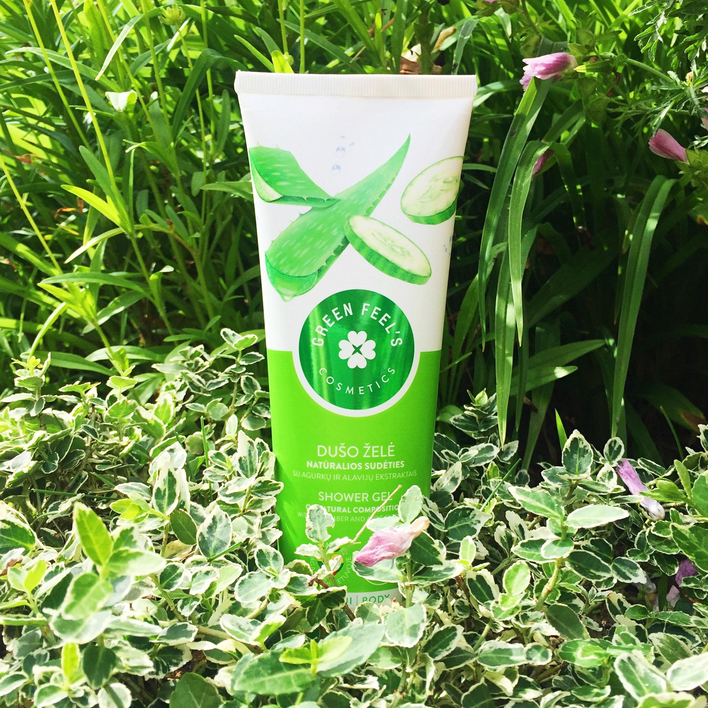 Green Feel's Żel pod prysznic z ekstraktami aloesu i ogórka