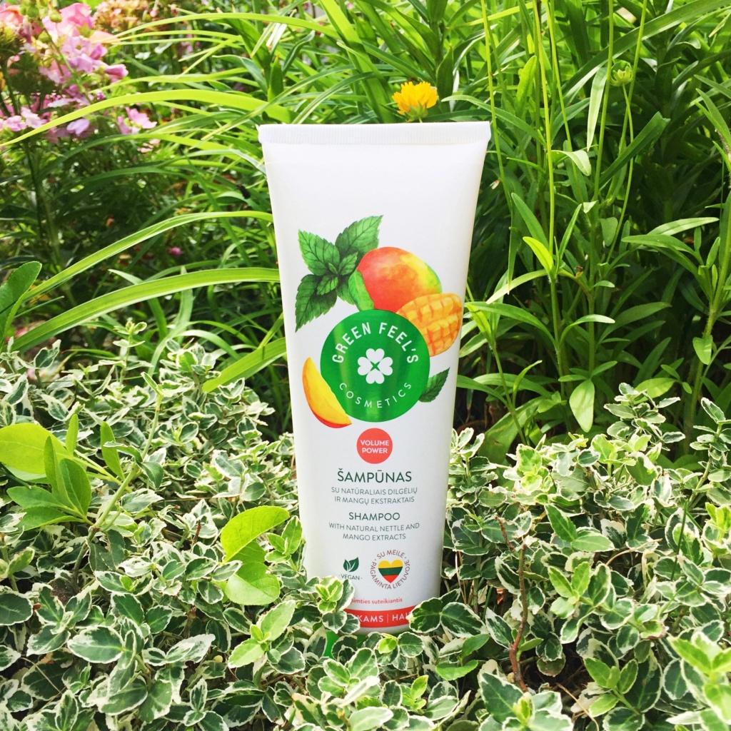 Green Feel's Zwiększający objętość szampon z ekstraktem z mango i pokrzywy