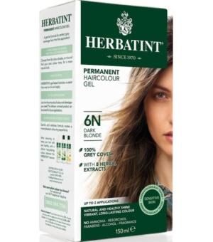 Herbatint 6N Ciemny blond Trwała farba do włosów w żelu