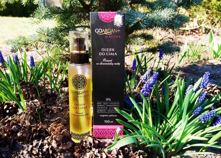 Nova Kosmetyki, GoArgan+ Głęboko odżywiający olejek do ciała Malina
