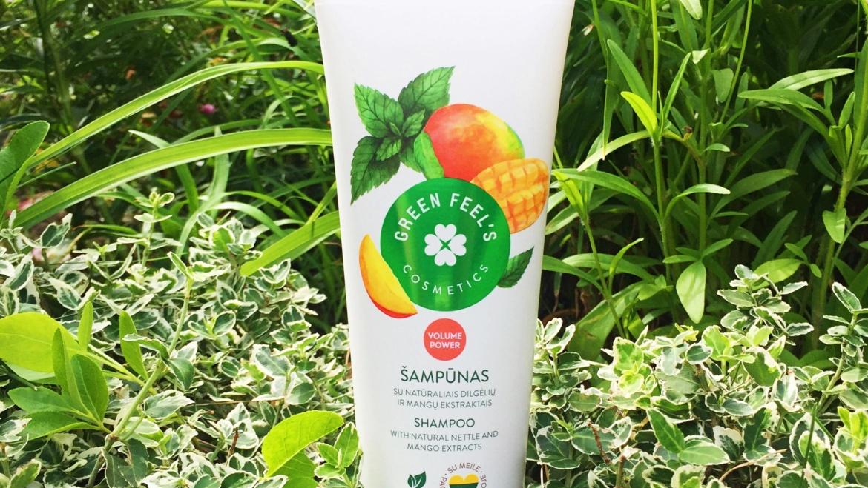Green Feel's, Zwiększający objętość szampon z ekstraktem z mango i pokrzywy