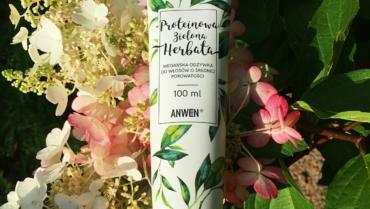 Anwen, Proteinowa Zielona Herbata – wegańska odżywka do włosów o średniej porowatości